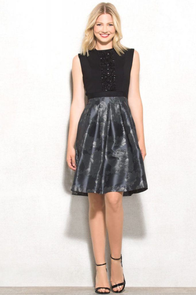 Metallic Accents: - 30 Christmas Party Outfit Ideas - Christmas Celebration - All About