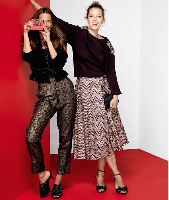 Work Christmas Party Outfit Ideas Part - 42: Showcase Your Chic, Personal Style At The Christmas Party By Dressing Up As  A Corporate Woman. Pair A Glittery Trouser With Muted Top Or Wear A Plain  Blouse ...