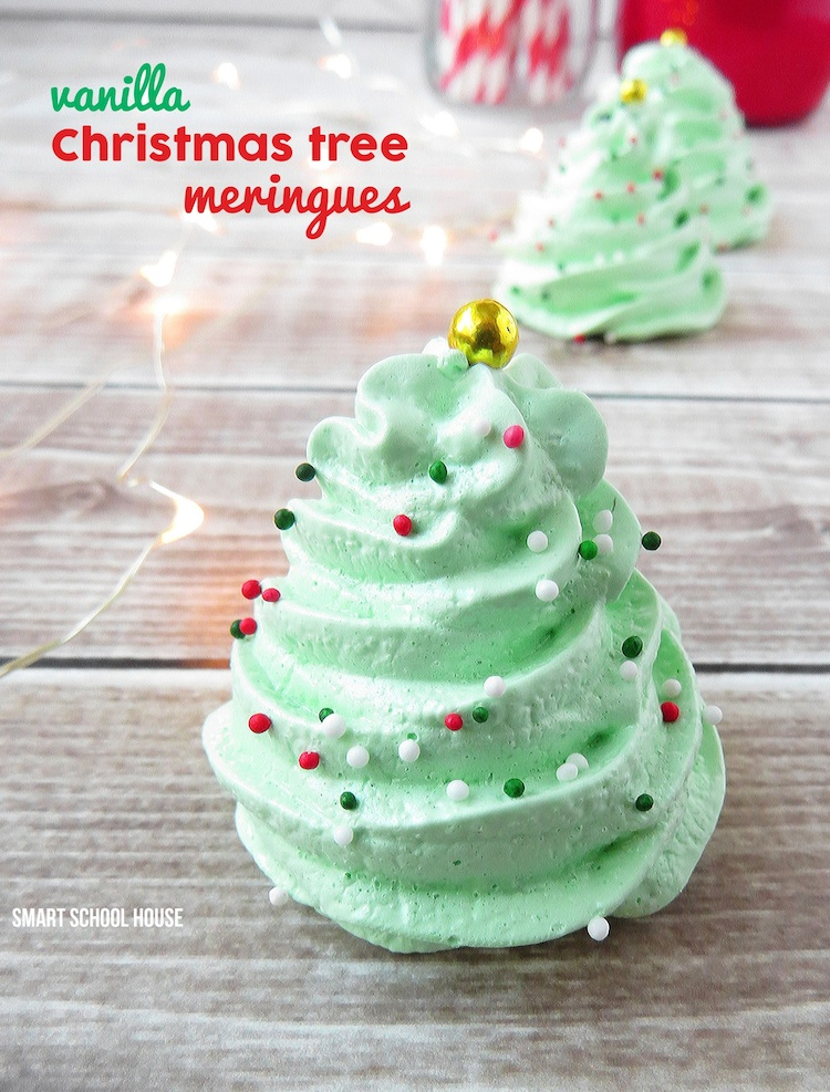 christmas tree meringue cookies - Gifts To Make For Christmas