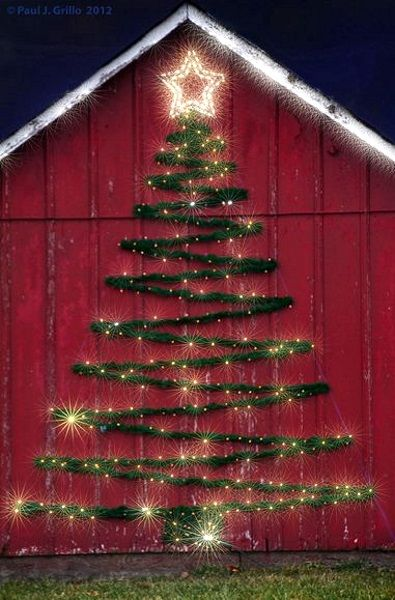 heres another gorgeous and unique outdoor christmas light decoration idea for you to incorporate this holiday season you just need to make a christmas - Christmas Decorating Ideas For Outdoor Trees