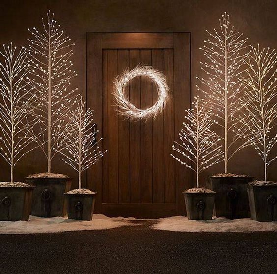 It's indeed magical and will look excellent placed in front of your main  door or garage door. - Outdoor Christmas Light Decoration Ideas - Christmas Celebration