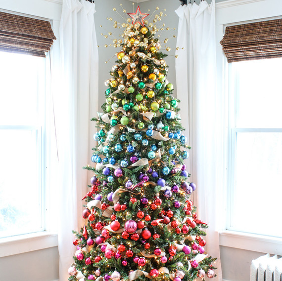 Colorful Christmas Tree Decorations.27 Rainbow Christmas Tree Decoration Ideas Christmas