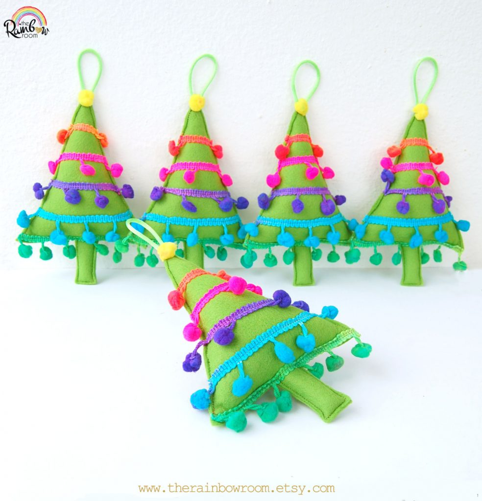 Rainbow Christmas Tree Decoration Ideas