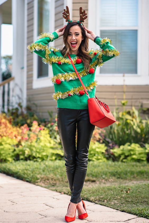 Ugly Christmas Sweater: - 25 Tacky Christmas Party Ideas - Christmas Celebration - All About