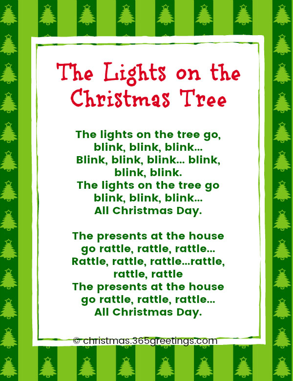 the lights on the christmas tree lyrics