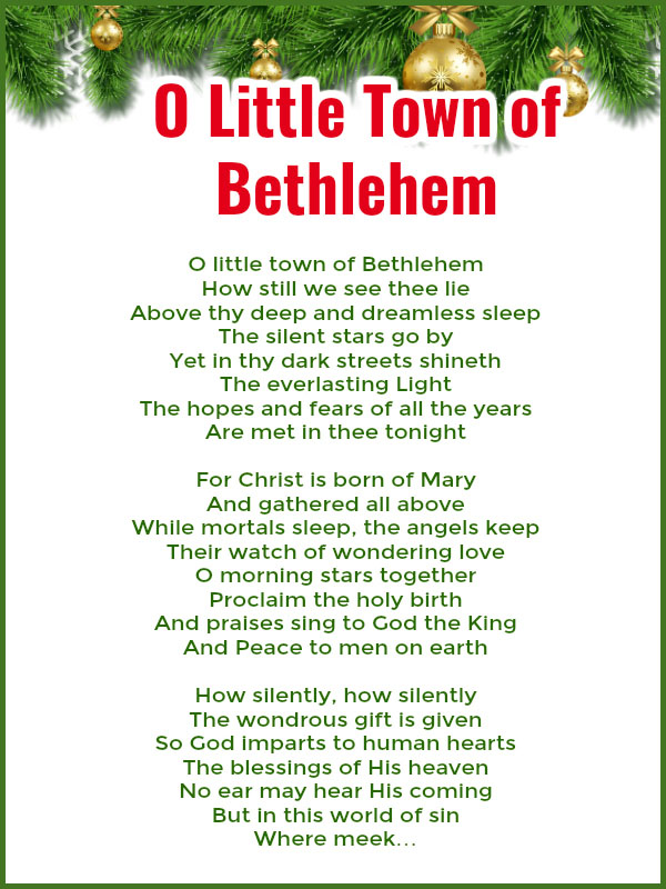 O Little Town of Bethlehem - Best Christmas Songs For Kids And Preschoolers With Lyrics