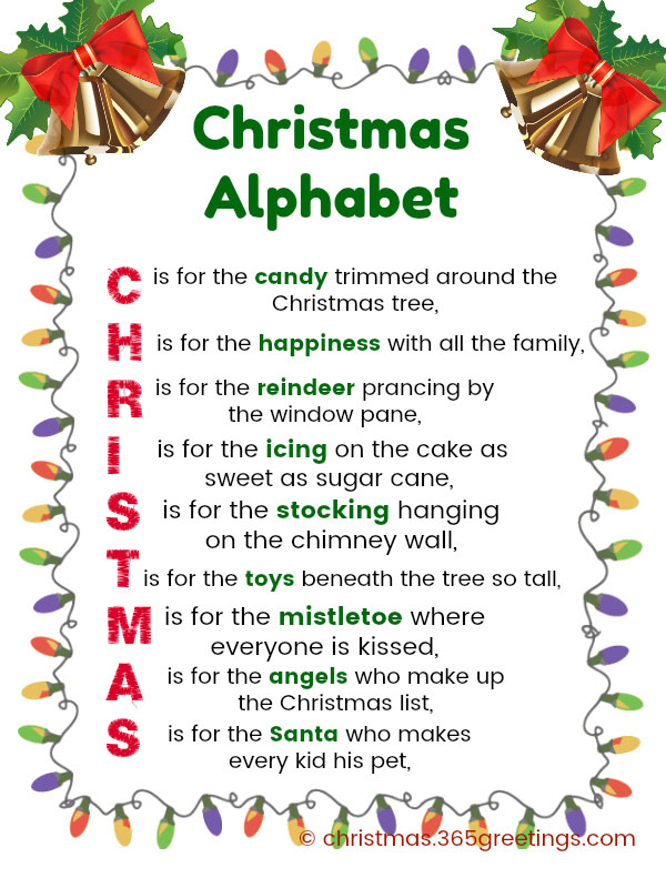 christmas alphabet lyrics - Christmas Songs For Kids