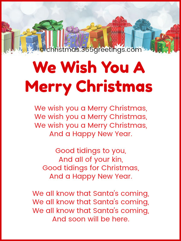 We Wish You A Merry Christmas Song.Best Christmas Songs For Kids And Preschoolers With Lyrics