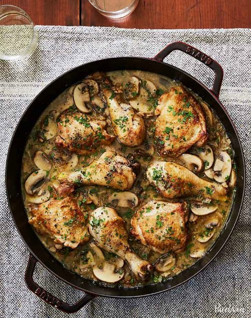Christmas chicken recipe ideas christmas celebration all about if you are looking for an elegant looking chicken dish for your christmas menu you can try the cheaters white wine coq au vin forumfinder Image collections