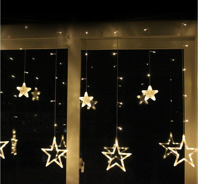 Christmas window lights decoration and ideas