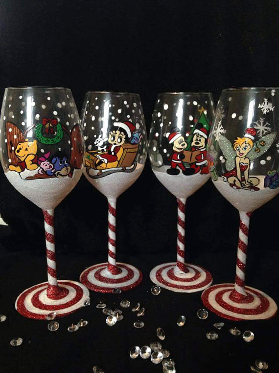 25 Prettiest Christmas Wine Glasses Christmas Celebration