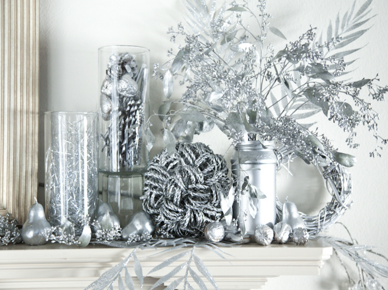 Silver Christmas Decorations Ideas