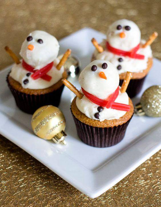 Snowman Cupcake Recipes