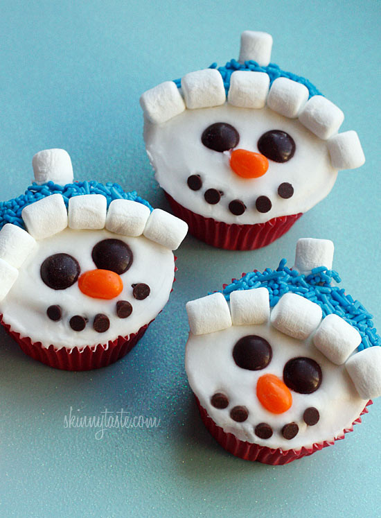 Snowman Cupcake Recipes