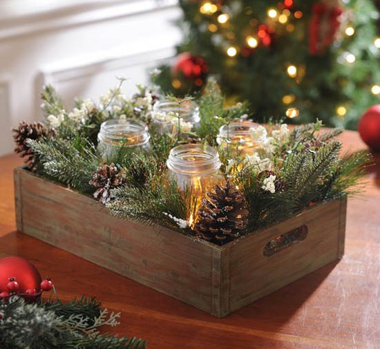 35 Festive Christmas Candle Centerpiece Ideas Christmas