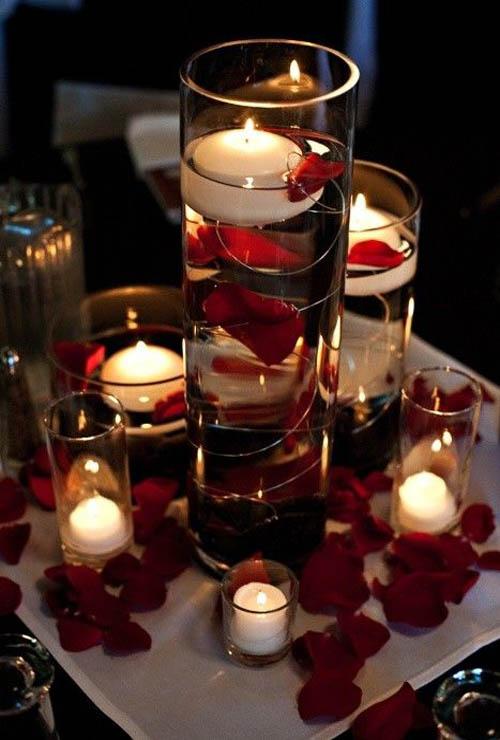 Christmas Floating Candles.35 Festive Christmas Candle Centerpiece Ideas Christmas