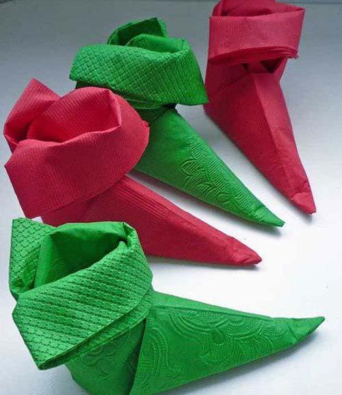 Napkin Folding Christmas.Fancy Christmas Napkin Folding Ideas Christmas Celebration