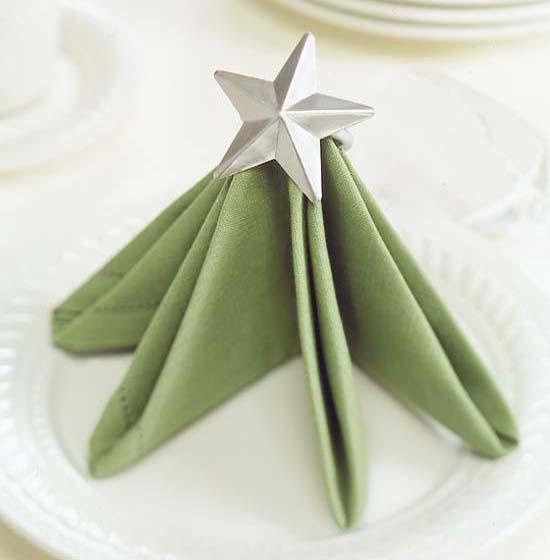How To Fold Napkin Into Christmas Tree.Fancy Christmas Napkin Folding Ideas Christmas Celebration
