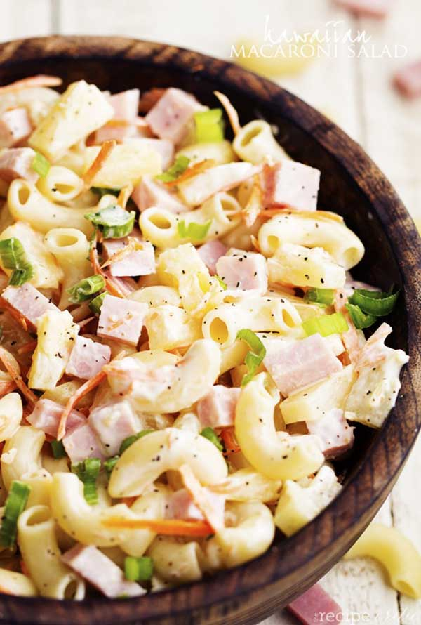 an incredible tasting macaroni salad recipe can be one of the best options for a holiday side dish the shredded carrots ham green onions and pineapple - Best Christmas Side Dishes