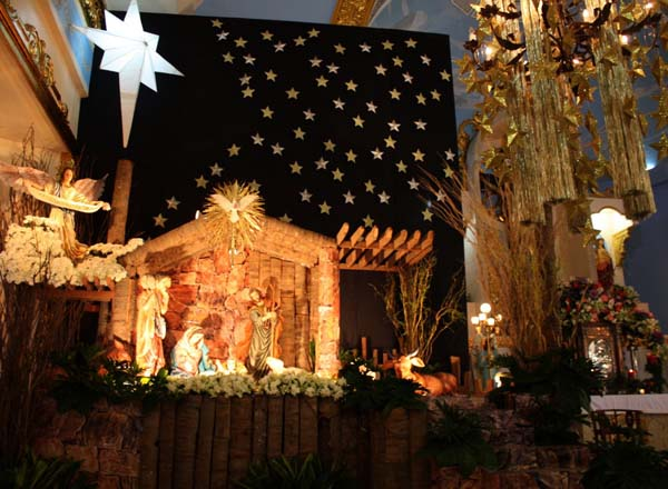 recreating the beautiful representation of the christ birth is the most exciting thing about christmas isnt it decorate the crib with idols stars - Christmas Decorating Ideas For Church Sanctuary