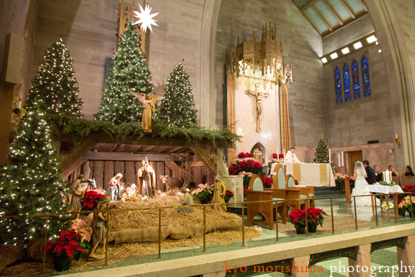 christmas celebrations will be colourless without an elegantly decorated crib and christmas tree this church dcor resonating with less is more phrase is