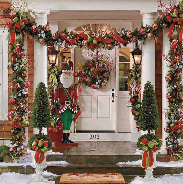 Christmas Decorations For Front Porch Christmas Celebration All