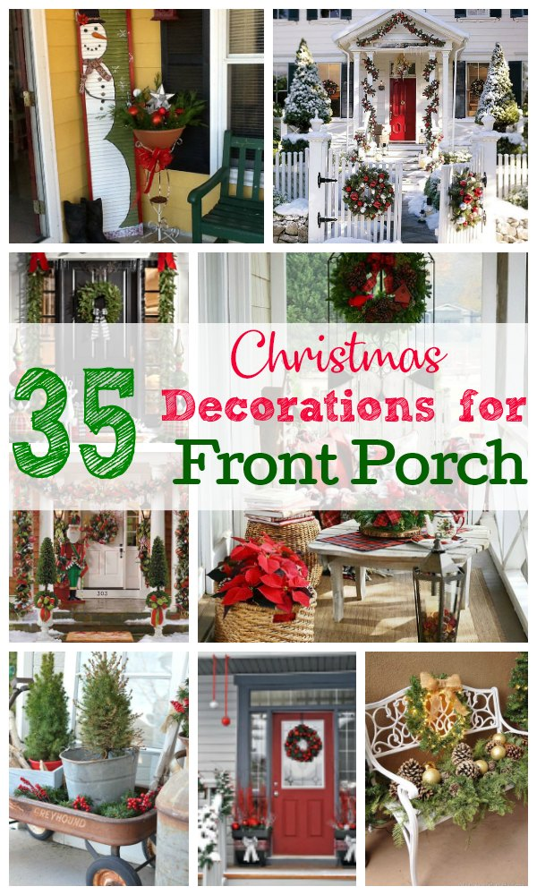 the following ideas will help to provide you with some inspiration to create your own christmas decorations for front porch allow your artistic abilities