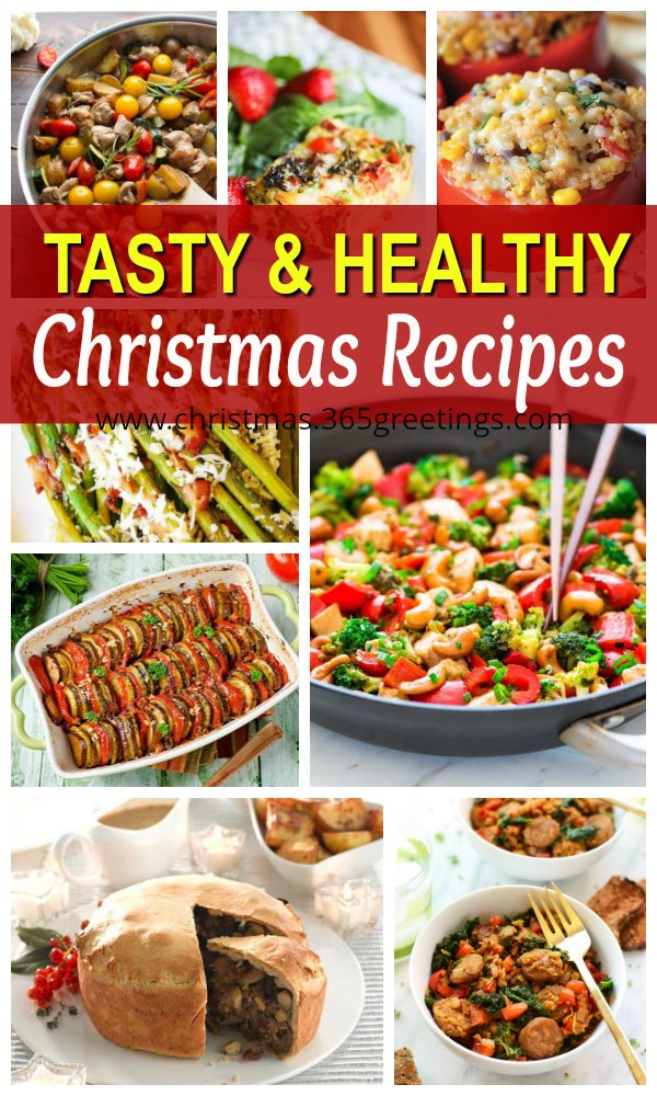 here are some healthy suggestions of recipes for christmas meals to replace or even to space up the usual heavy festive meals