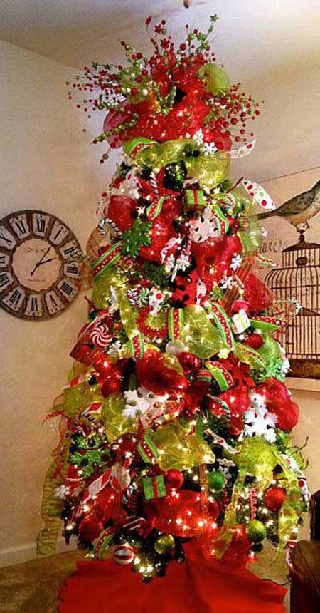 mesh ribbon christmas tree ideas 02jpg