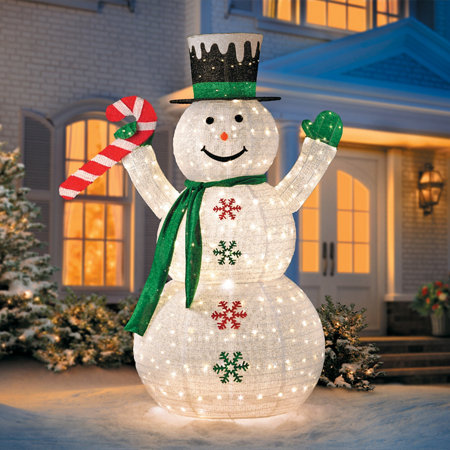 light up snowman decorations - Outdoor Light Up Christmas Decorations