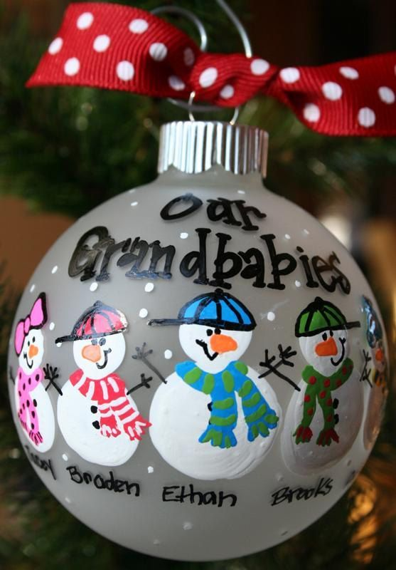 Painted christmas ornaments christmas celebration all about our grandbabies the personal touch on christmas ornaments solutioingenieria Gallery