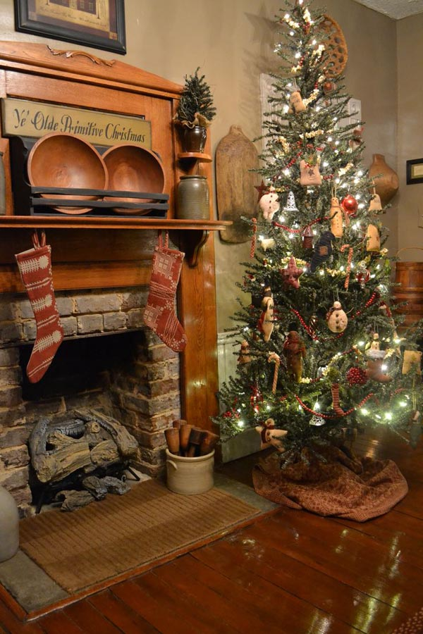 Stunning Primitive Christmas Decorations Ideas Christmas