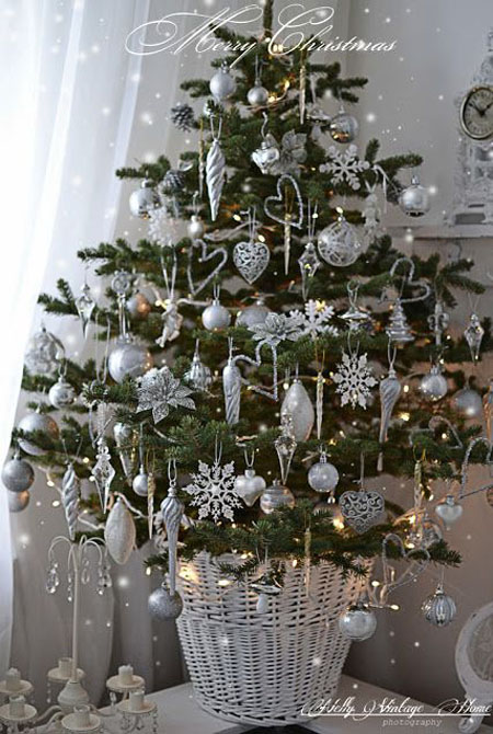silver christmas decorations ideas - Silver Christmas Tree Decorating Ideas