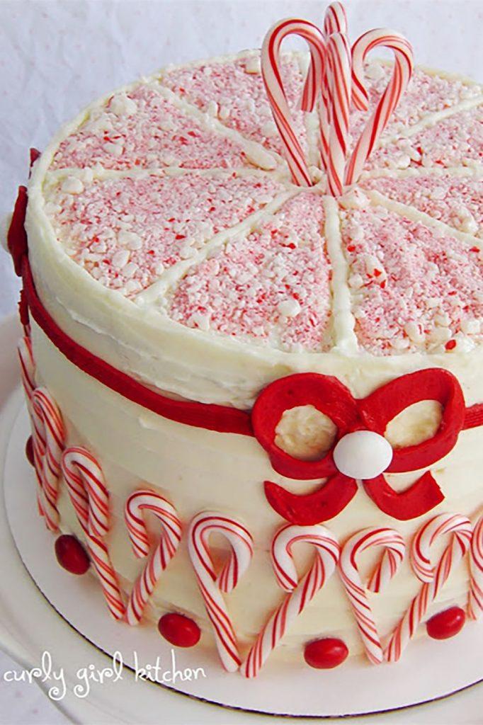 Peppermint Crunch Coconut Christmas Cake and Cake Truffles:
