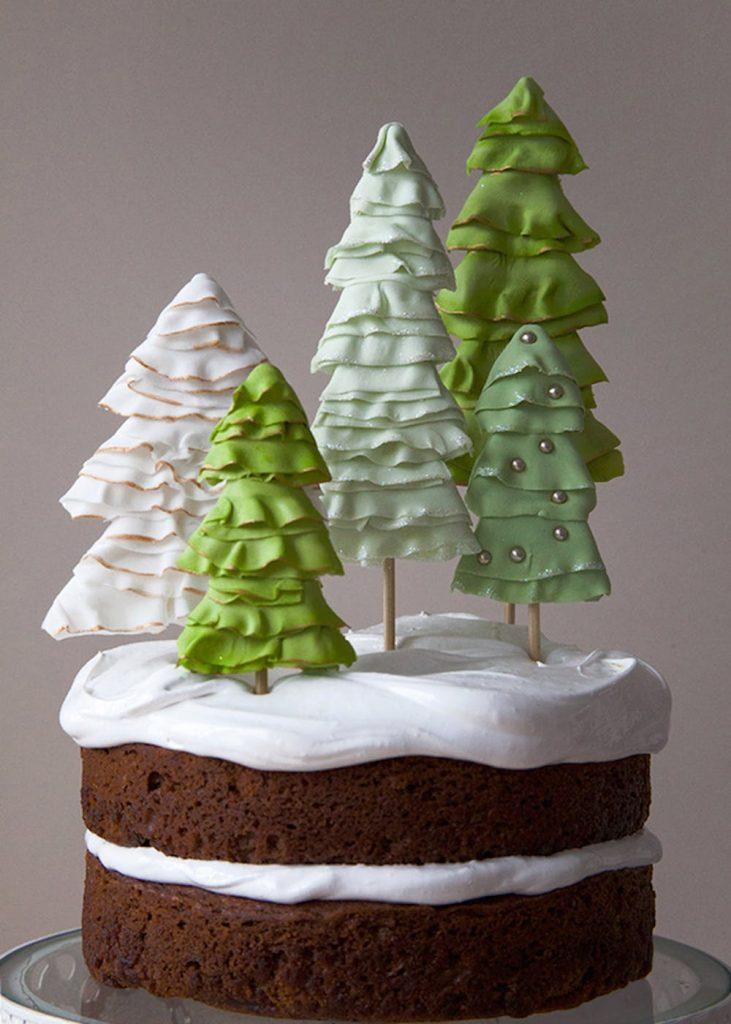 40 Beautiful Christmas Cake Toppers - Christmas ...