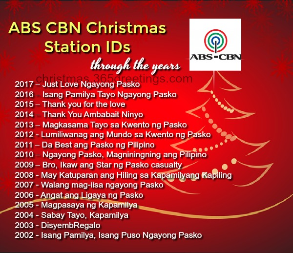 Abs Cbn Christmas Station Id 2020 ABS CBN Christmas Station IDs Through the Years   Christmas