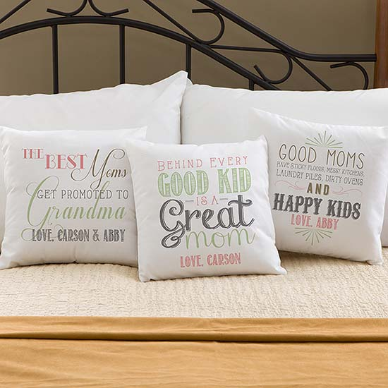 take the chance to give credit to your mother in law for raising the man who lights your life in a way no one else ever has with a personalized pillow - What To Get Your Mother In Law For Christmas