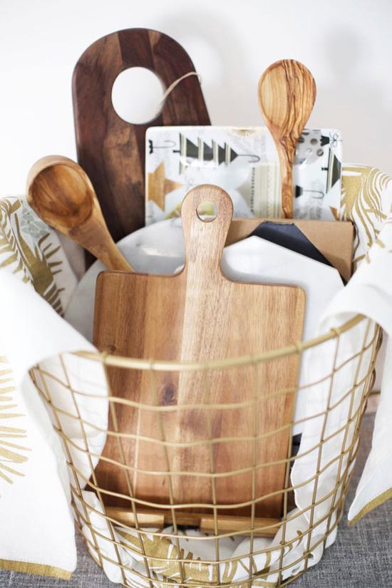 Filled with woodsy, whimsical kitchen items, this is a sure-to-be-hit Christmas  gift idea for your mother-in-law. List down what goes into the basket, ... - Christmas Gift Ideas For Mother-in-Law - Christmas Celebration - All