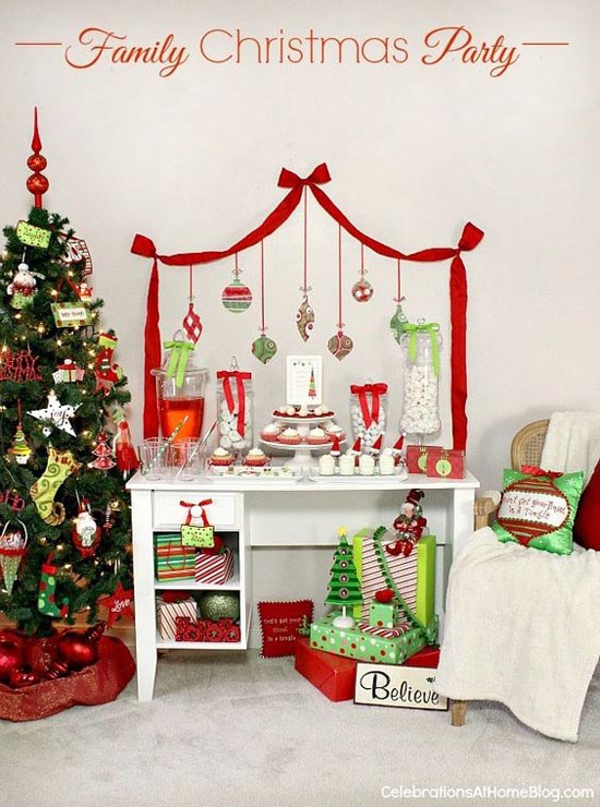 family christmas party decoration idea - Christmas Party Decorations