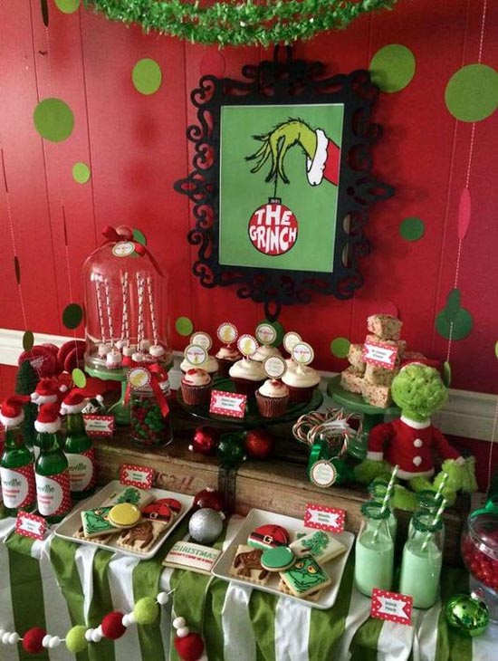 have you always wanted to do a themed party heres an idea of how to create yourself a very grinch christmas use a grinch movie poster and