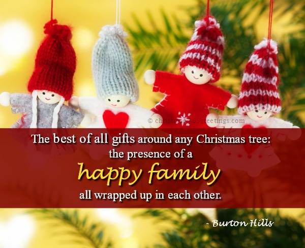 Christmas Family Quotes and Sayings , Christmas Celebration