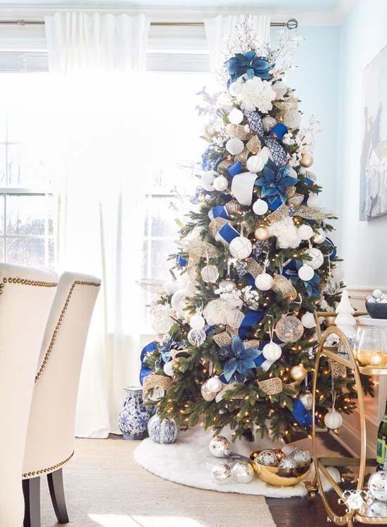 blue can be a christmas color and have a place in your christmas decor if you allow yourself to rule out red at least from your christmas tree decoration