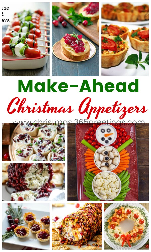 Make Ahead Christmas Appetizers Recipes