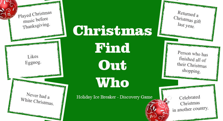Christmas Games For Adults