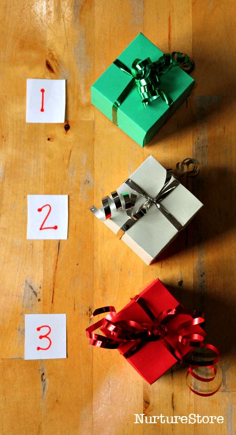 Christmas sensory games for preschoolers