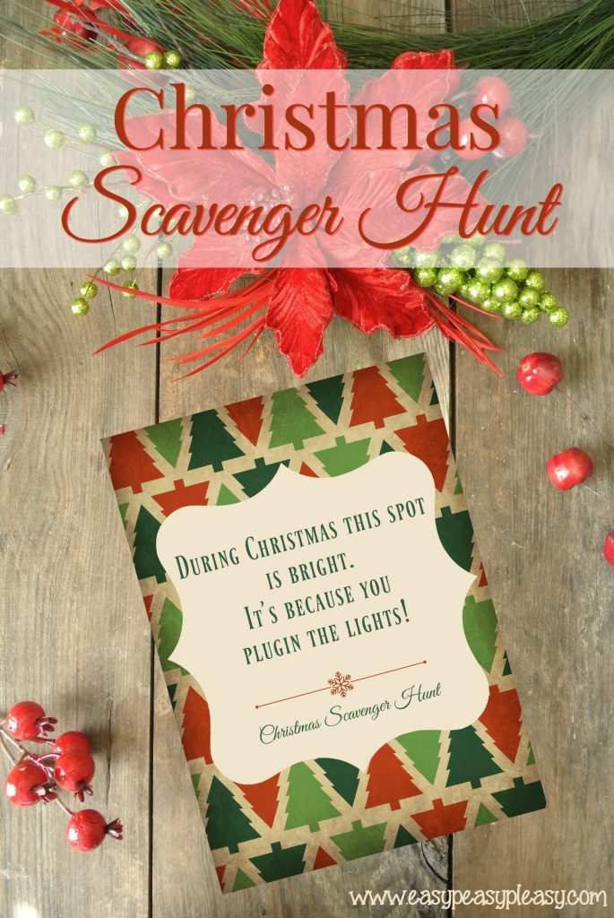 Christmas Scavenger Hunt Games