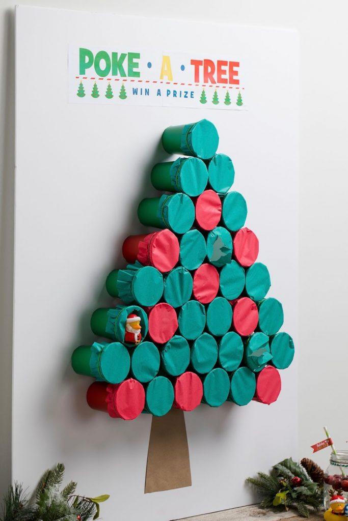 poke a christmas tree preschooler christmass games