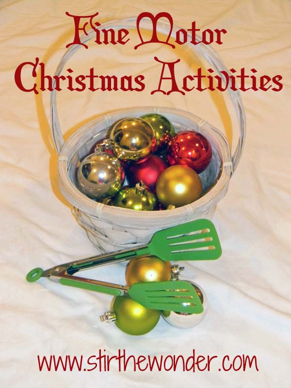 Fine Motor Games for Christmas