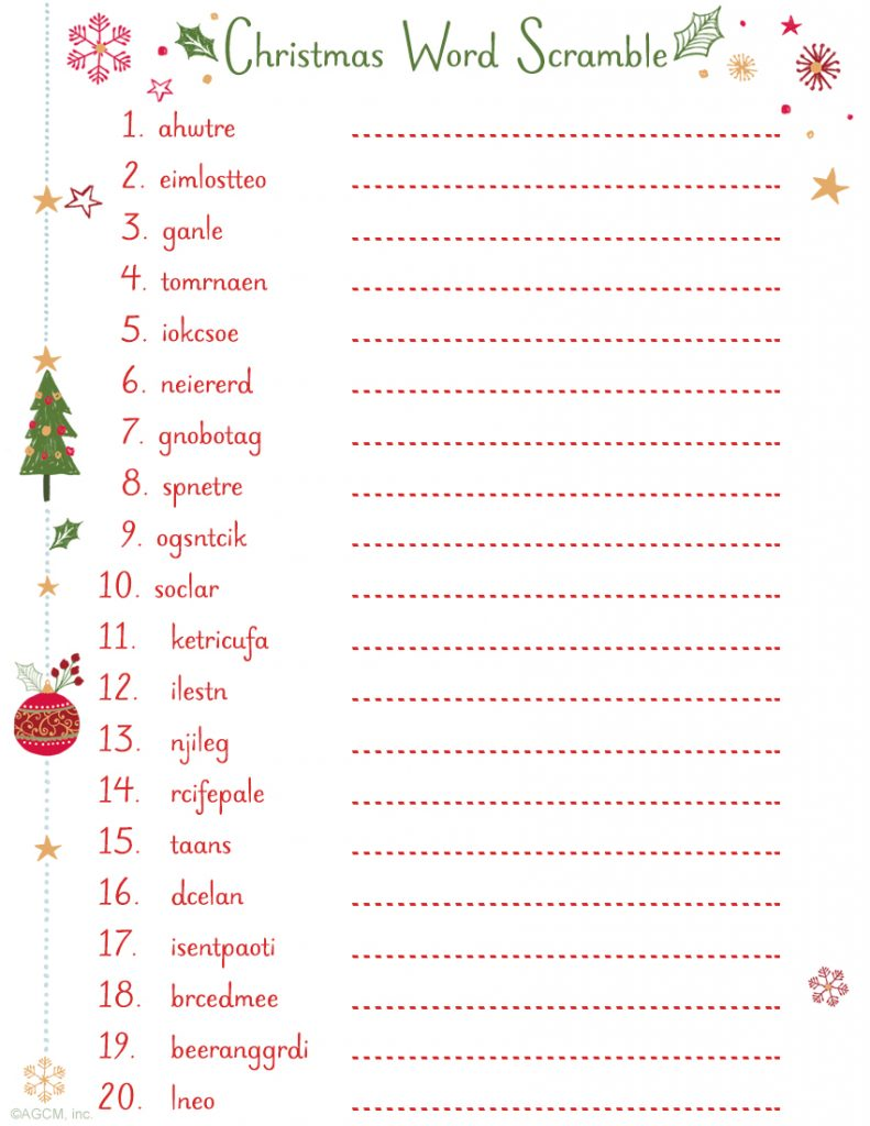 picture about Free Printable Christmas Games for Adults named 20 Cost-free Printable Xmas Online games - Xmas Occasion