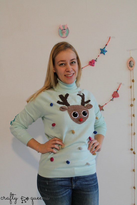 its christmas the perfect time to express your undying love for rudolf youve baked reindeer cookies and decored the tree with reindeer ornaments - Diy Christmas Sweater
